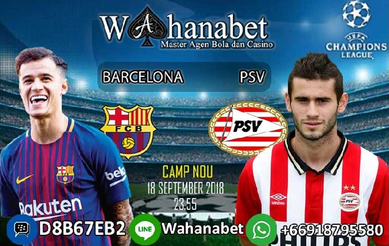Pertandingan Barcelona vs PSV UEFA Champions League
