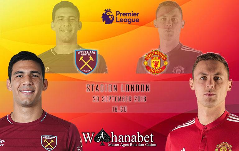 Pertandingan West Ham vs Manchester United Premier League