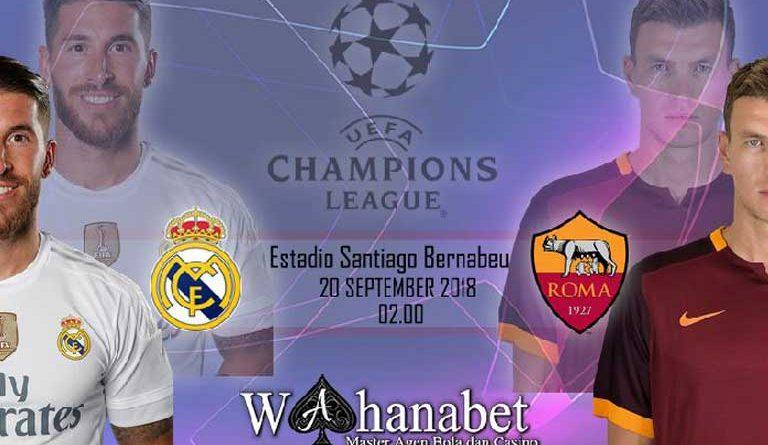Pertandingan Real Madrid vs AS Roma UEFA Champions League