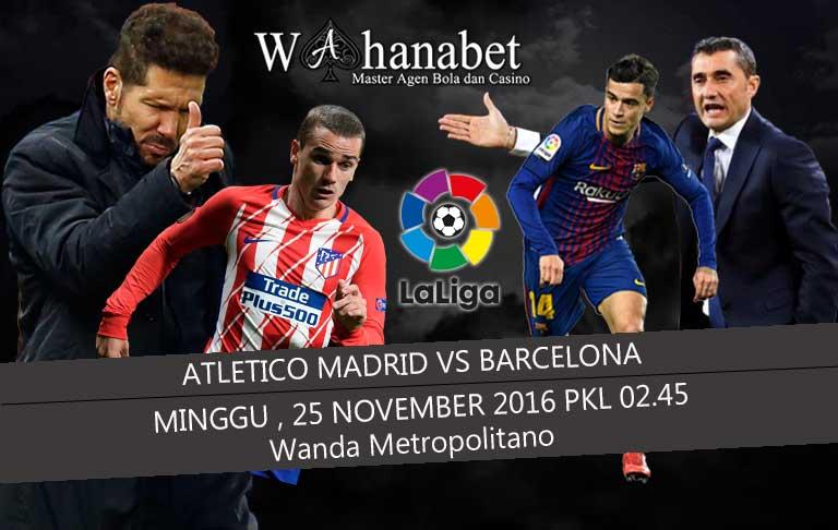 Pertandingan Atletico Madrid vs Barcelona La Liga Spanyol