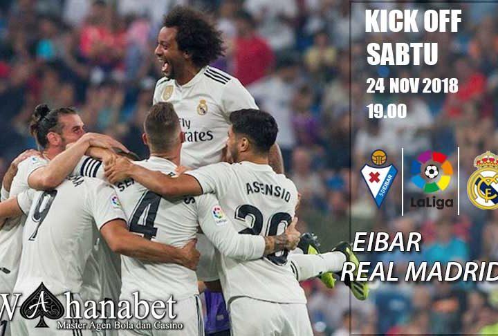 Pertandingan Eibar vs Real Madrid La Liga Spanyol