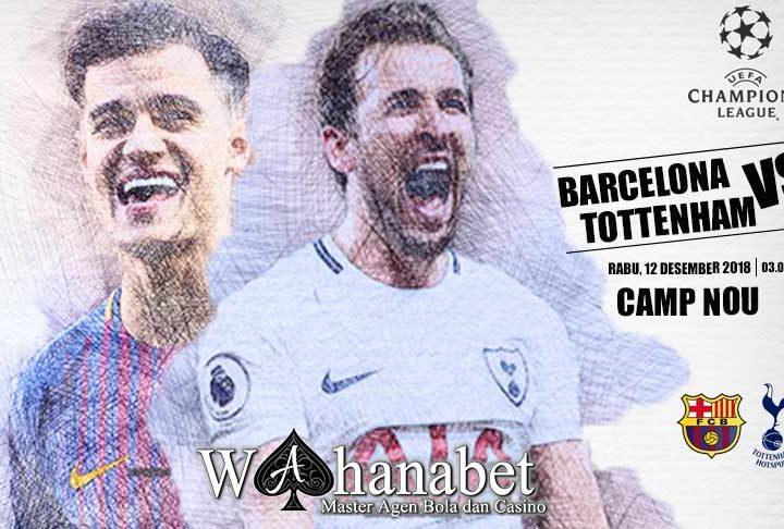 Pertandingan BarcelonavsTottenham