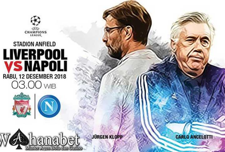 Pertandingan Liverpool vs Napoli