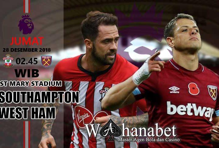 Pertandingan Southampton vs West Ham