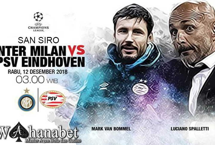 Pertandingan Inter Milan vs PSV