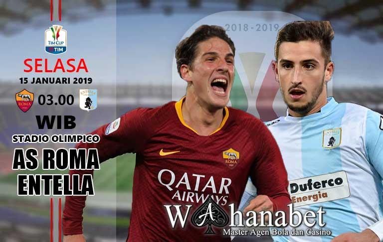 Pertandingan AS Roma vs Entella