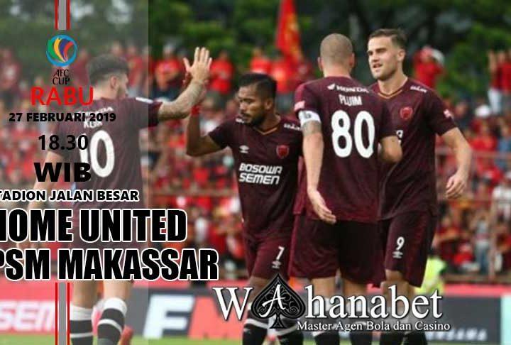 Pertandingan Home United vs PSM Makassar