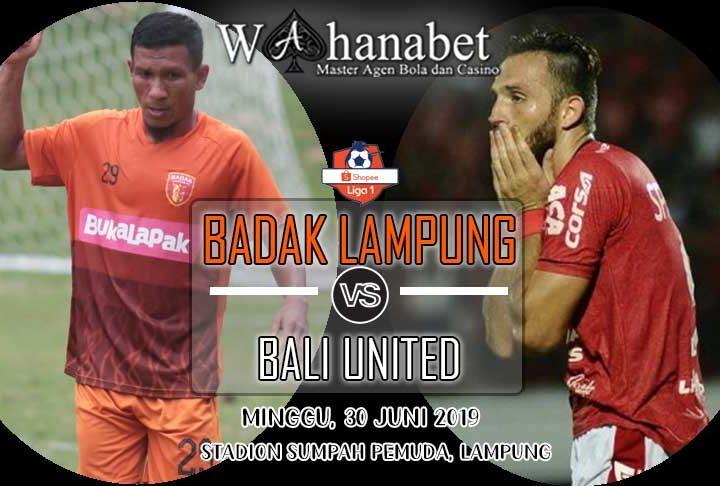 pertandingan badak lampung vs bali united
