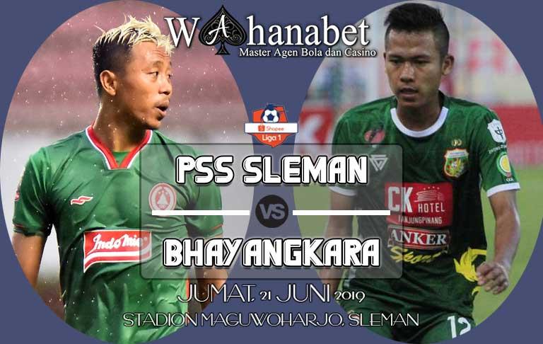 pertandingan pss sleman vs bhayangkara