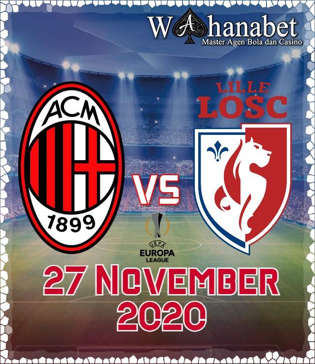 Prediksi Pertandingan Bola Lille vs AC Milan Liga Europa Akhir Pekan