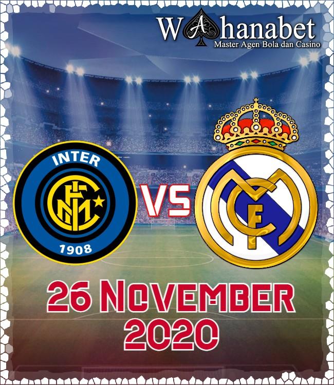 Prediksi Skor Inter Milan vs Real Madrid 26 November 2020